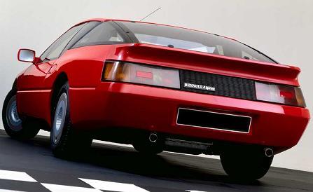 Alpine GTA 1.984. Vista Trasera.