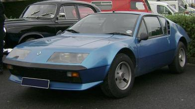 Alpine A310. Vista lateral.