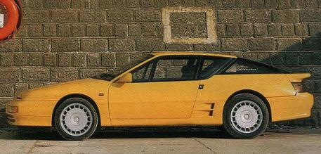 Alpine A610 vista lateral.