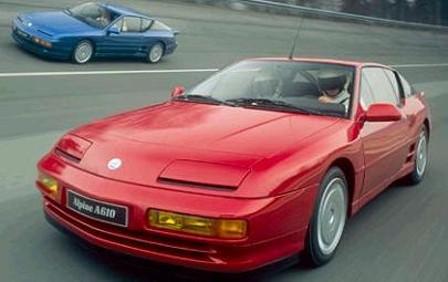 Alpine A610 Turbo, vista frontal.