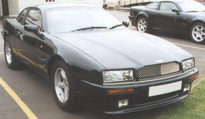 Aston Martin Virage. Vista frontal.