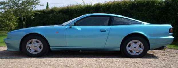 Aston martin Virage. Vista Lateral.