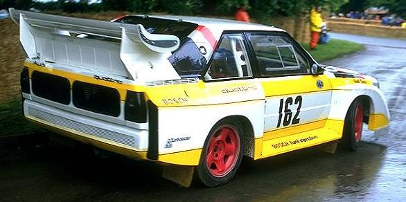 Audi Sport Quattro S1, Vista trasera.