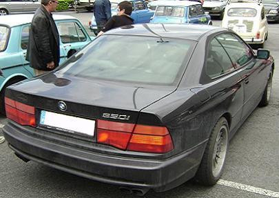 BMW Serie 8 (E31). Vista Trasera.