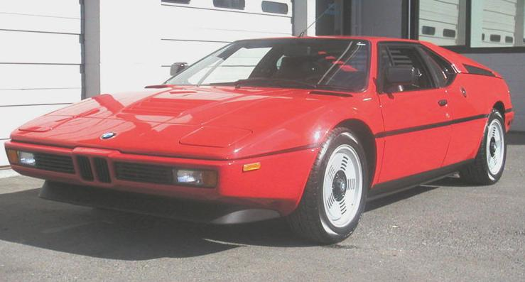 BMW M1. Vista Frontal.