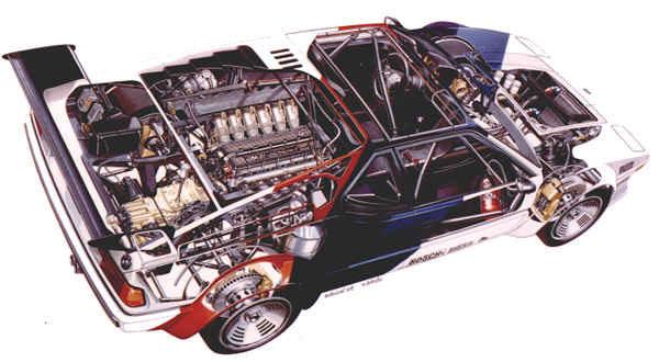 BMW M1. Chasis tubular y carrocería de fibra.