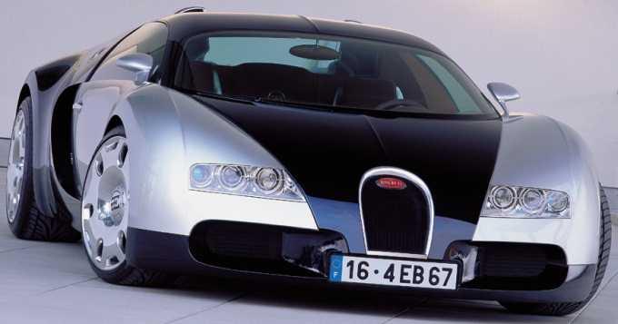 Bugatti Veyron, Prototipo 2001, vista frontal.