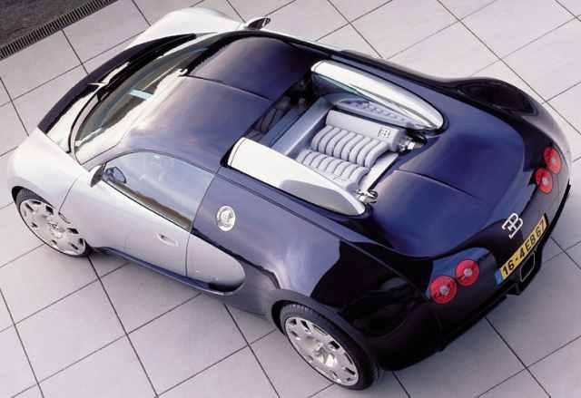 Bugatti Veyron Prototipo 2001. Vista trasera.