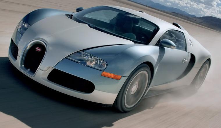 Bugatti Veyron 2005. Vista Frontal.