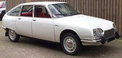 Citroën GS. Vista Frontal.