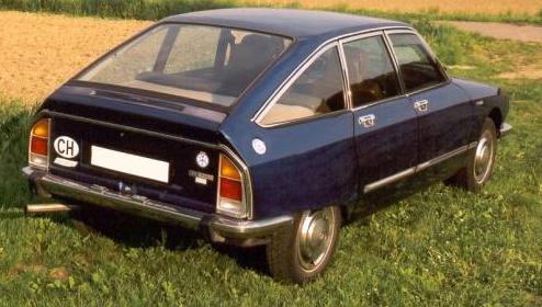 Citroën GS. Vista trasera.