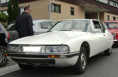 Citroën SM. Vista frontal.