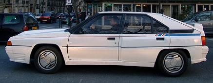 Citroën BX 4tc. Vista Lateral.