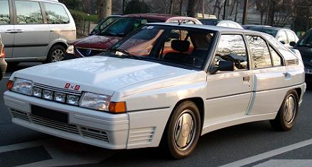 Citroën BX 4tc. Vista Frontal.