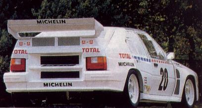 Citroën BX 4TC. Gran aleron trasero.