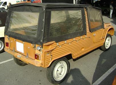 Citroën Mehari. Vista trasera.