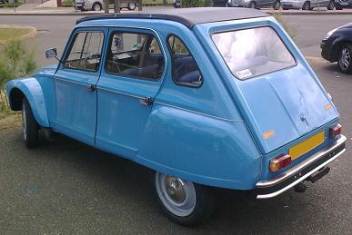 Citroën Dyane 6. Vista trasera.