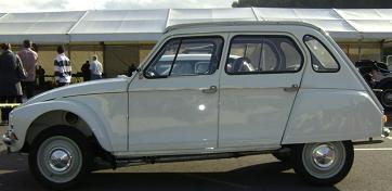 Citroën Dyane. Vista Lateral.
