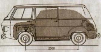 Plano Siata Formicheta sobre base SEAT 600.