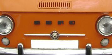Ebro Siata 50. Logotipo frontal