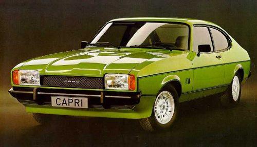 Ford Capri MK2. Vista Frontal.