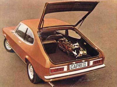 Ford Capri MKII. Vista trasera.