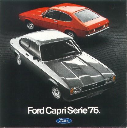 Cartel publicitario 1976 del Ford Capri MK2