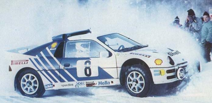 Ford RS200 en su debut en el Rally de Suecia de 1986