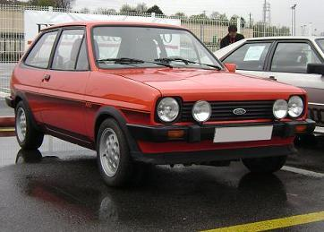 Ford fiesta MkI XR2. Vista frontal.