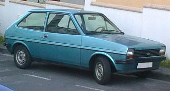 Ford Fiesta L MKI. Vista frontal.