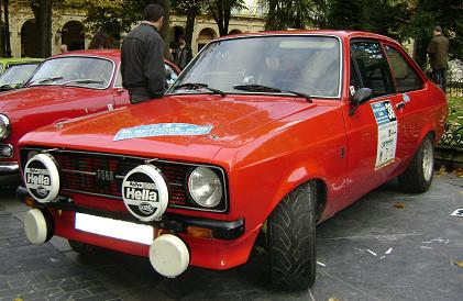 Ford Escort MkII. Vista Frontal.