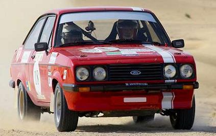 Ford Escort MkII RS2000. Dobles ópticas delanteras.