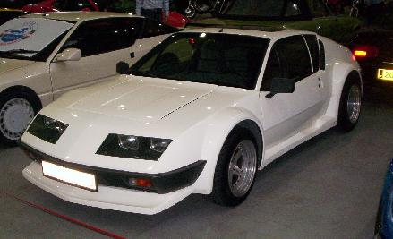 Alpine A310. Vista Frontal.