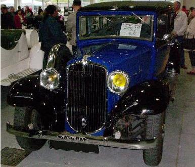 Renault Vivastella PG7. Año 1933.