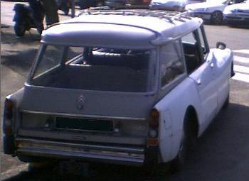 Citroën DS Break. Vista trasera.