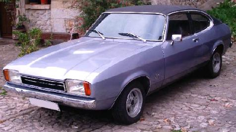 Ford Capri MKII Ghia. Vista lateral.