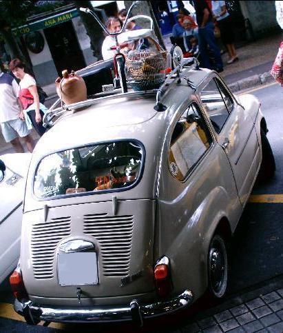 SEAT 600 E. portaequipajes original.