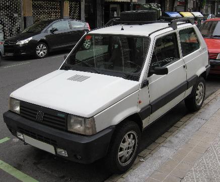 FIAT Panda 4x4. Vista delantera.