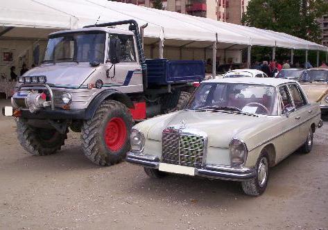 Mercedes Unimog y Mercedes 250 SC