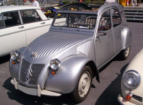 Citroën 2CV. Vista Frontal.