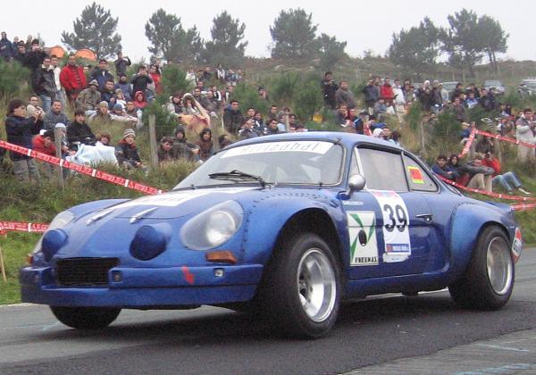 Alpine A110 participante en la XI Subida de Otoño a Jaizkibel.