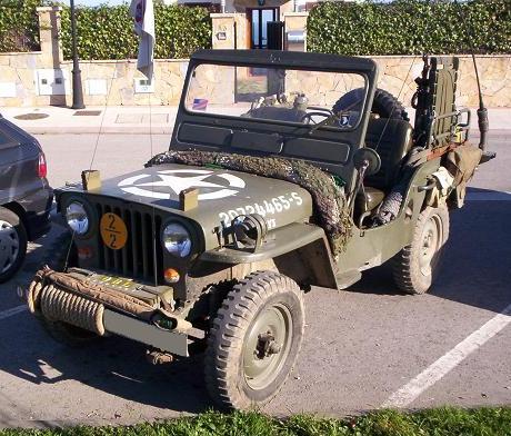 Jeep Willys CJ-3A Militar Normandia. Vista delantera.