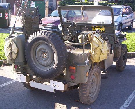 Jeep Willys Militar Normandia. Vista trasera.
