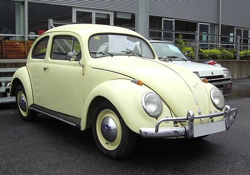 VW escarabajo. Vista frontal.
