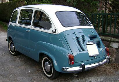 FIAT 600 Multipla. Vista Trasera