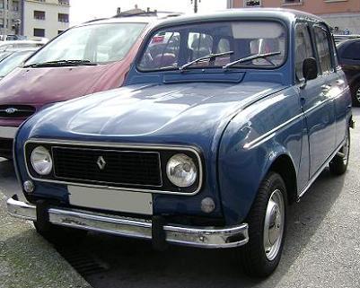 Renault 4 TL (1977). Vista Frontal.