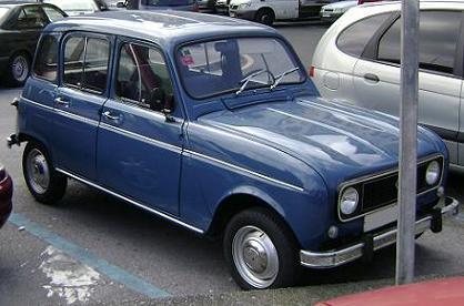 Renault 4 TL (1977) Vista frontal.