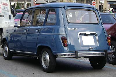 Renault 4 TL. Vista Trasera