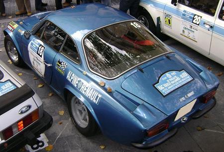 Alpine A110. Vista trasera.