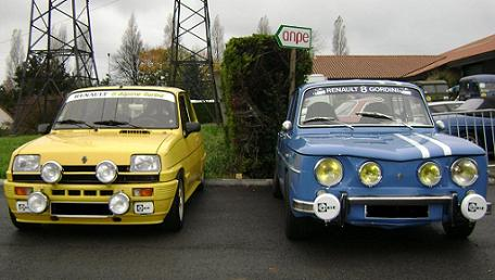 Renault 8 Gordini y Renault 5 alpine turbo.